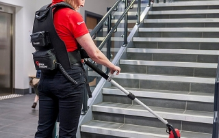 MotorScrubber Cleaning Stairs
