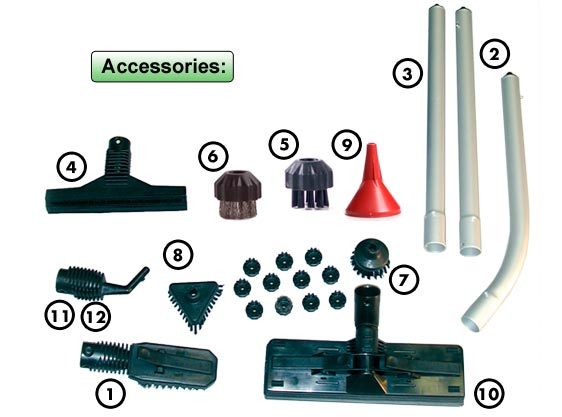 Hydro-Force Vapor Cleaning Machine Accessories