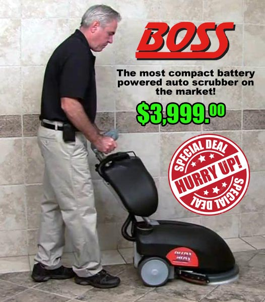 Gloss Boss Auto Scrubber Floor Cleaning Machine Sale