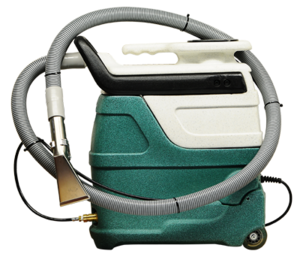 Portable carpet and upholstery extractor with heat