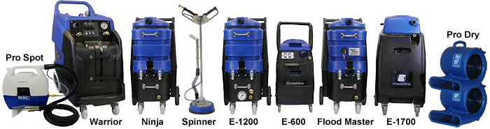 Professional Carpet Cleaning Machines and Water Damage Equipmnet Buy or Rent