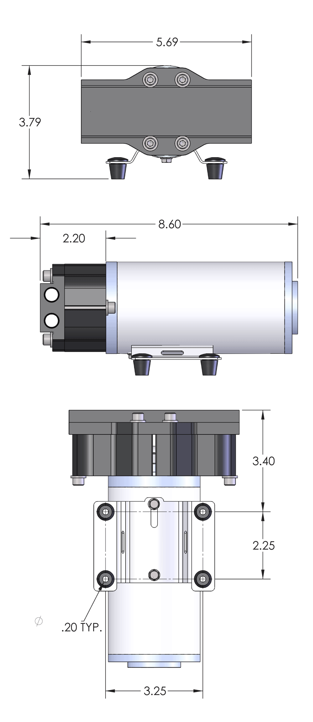 PumpTec 80105 Dimensions