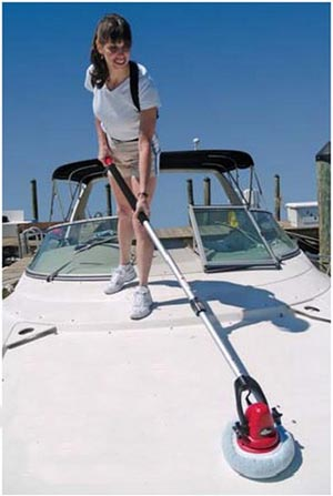 MotorScrubber Cleaning a Boat