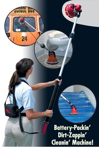 Portable Cleaning Machine Motor Scrubber Floor Scrubbing Power - Battery powered shower scrubber