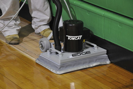 Screen Gymnasium Floors for easy Refinishing