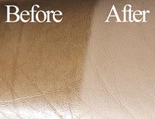 Leather Cleaner - Before and After