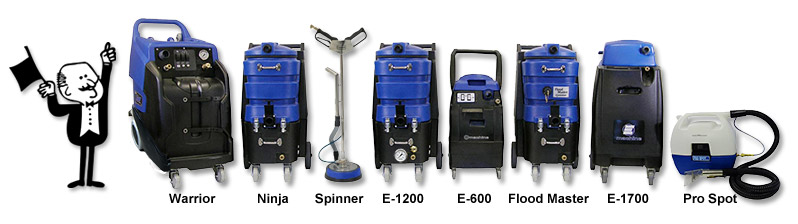 Portable Carpet and Upholstery Cleaning Machines, Hard Surface Tile and Grout Cleaners
