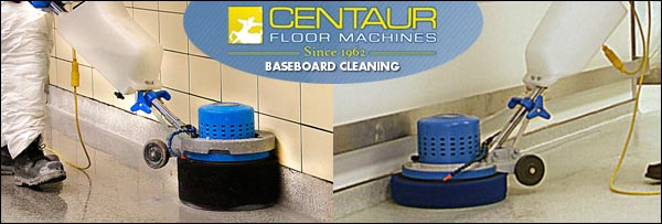 centaur scrub jay baseboard cleaning machine